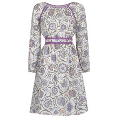 Vintage 1970s Floral cheesecloth dress UK 6-10