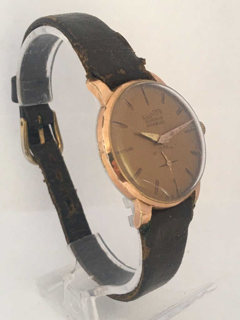 Vintage 1970s Gold-Plated Ladies Mechanical Watch  For Sale 9