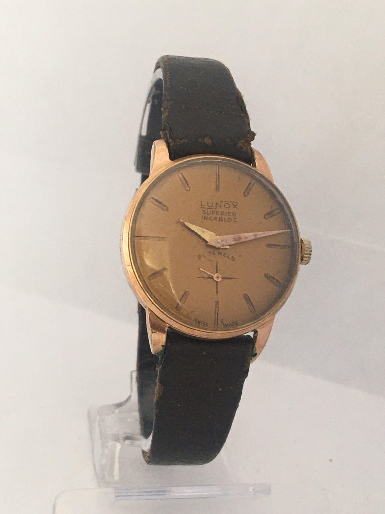 Vintage 1970s Gold-Plated Ladies Mechanical Watch  For Sale 10