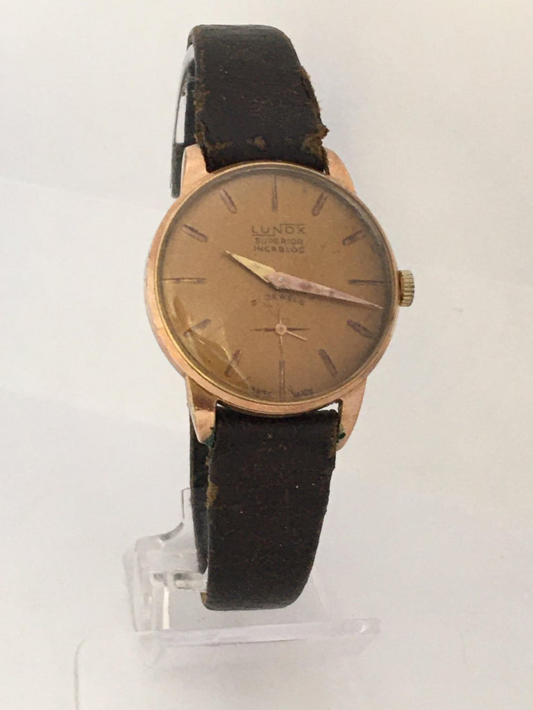 Women's Vintage 1970s Gold-Plated Ladies Mechanical Watch  For Sale