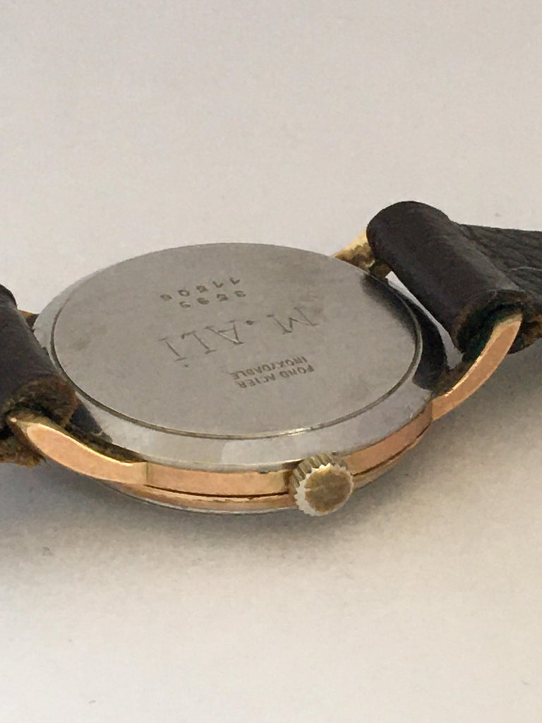 Vintage 1970s Gold-Plated Ladies Mechanical Watch  For Sale 4