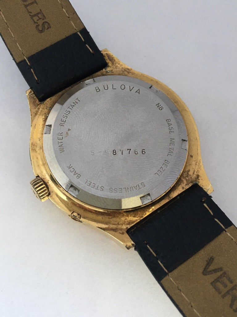 Vintage 1970s Gold-Plated Bulova Accutron Men's Watch For Sale 9