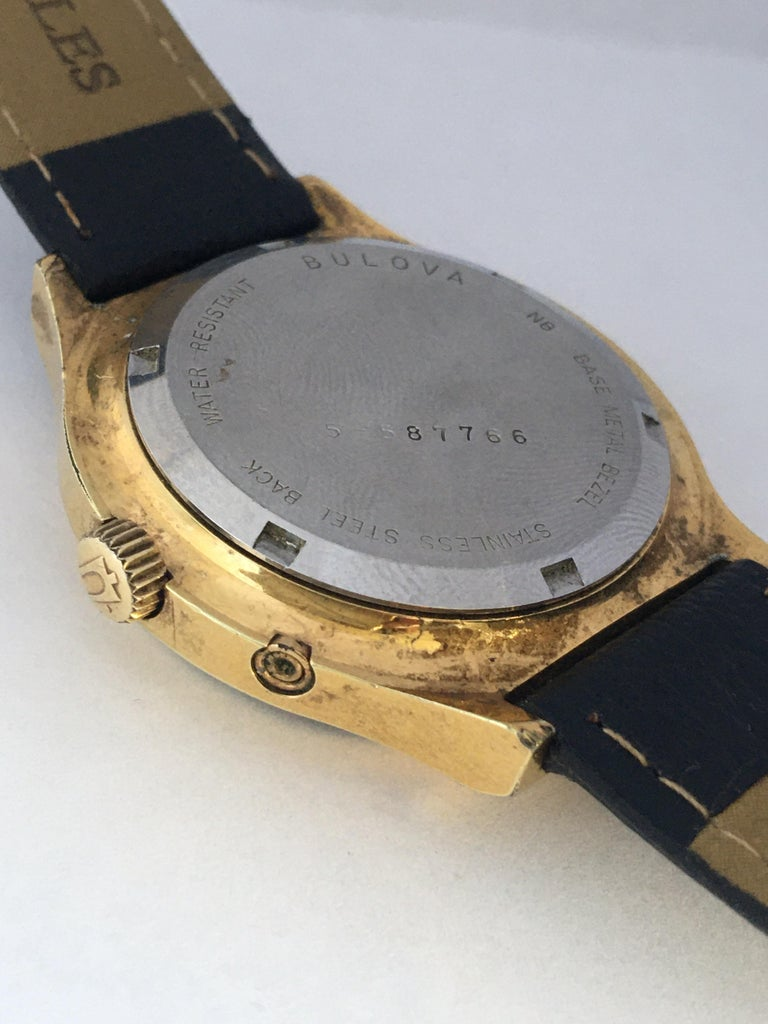 Vintage 1970s Gold-Plated Bulova Accutron Men's Watch For Sale 2