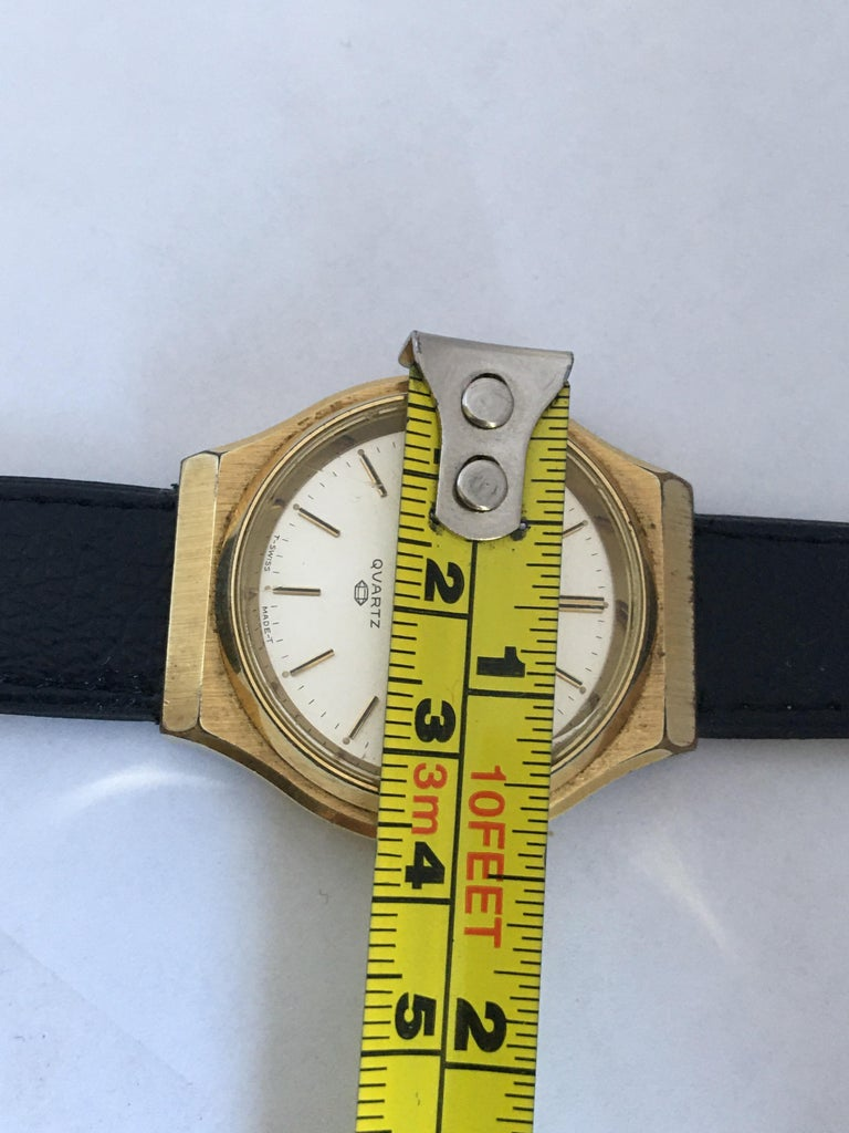 Vintage 1970s Gold-Plated Bulova Accutron Men's Watch For Sale 5