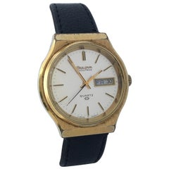 Vintage 1970s Gold-Plated Bulova Accutron Men's Watch