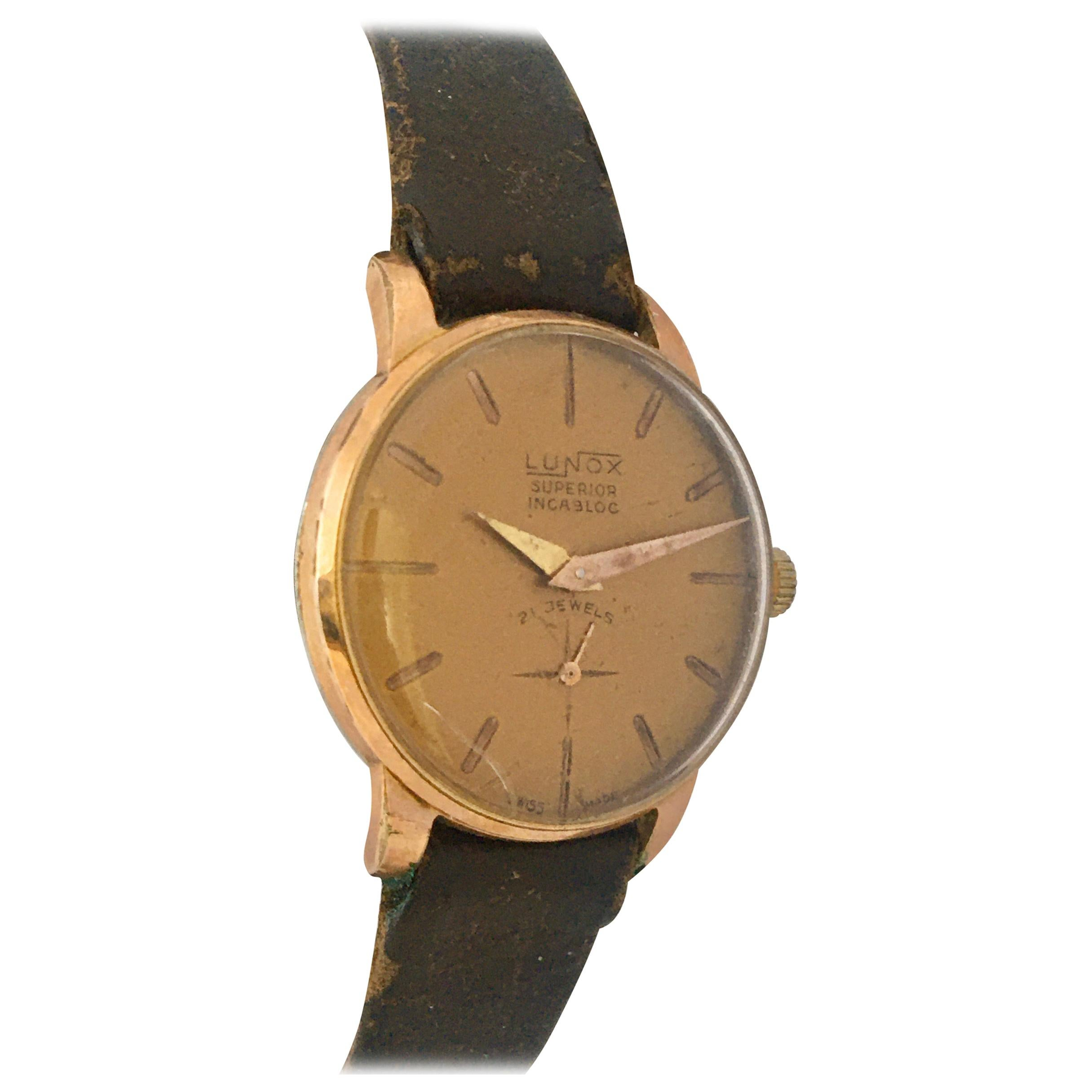 Vintage 1970s Gold-Plated Ladies Mechanical Watch