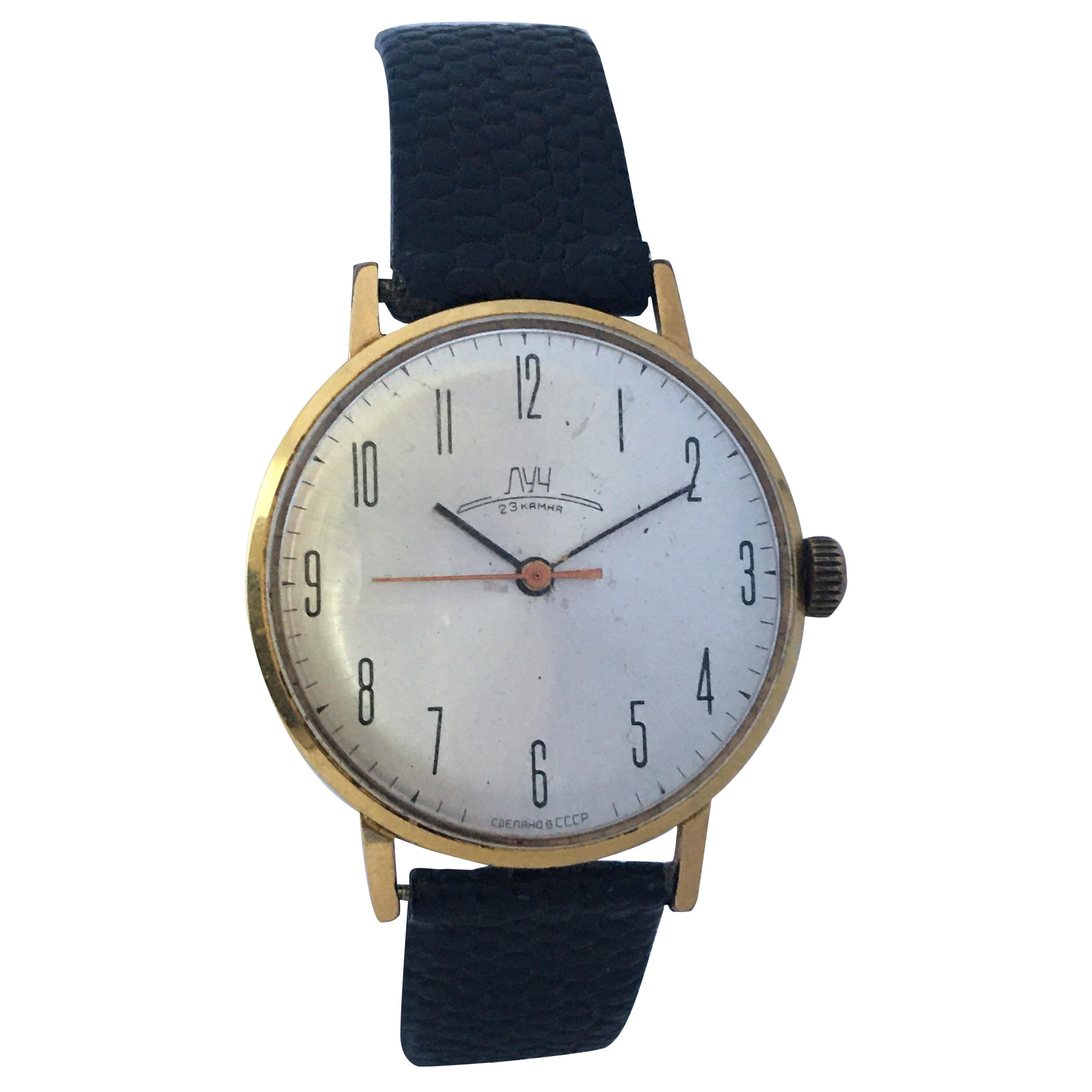 Vintage 1970s Gold-Plated Mechanical Watch