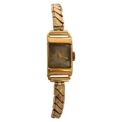 Vintage 1970s Gold-Plated Services Ladies Mechanical Watch