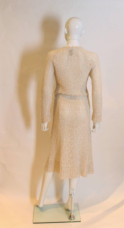 Women's Vintage 1970s Handloomed Crochet Dress For Sale