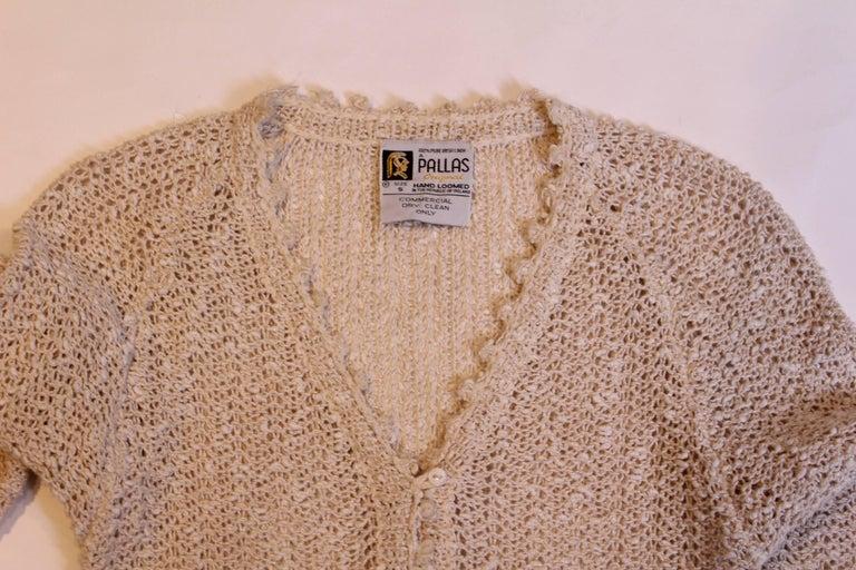 Vintage 1970s Handloomed Crochet Dress For Sale 2