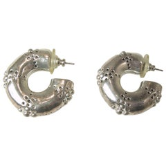 Vintage 1970s Hoop Pierced Earrings