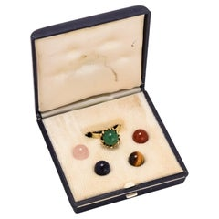 Vintage 1970s Interchangeable Stone Orbs Ring