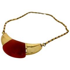 Vintage 1970s LANVIN Paris Modernist Lucite Necklace