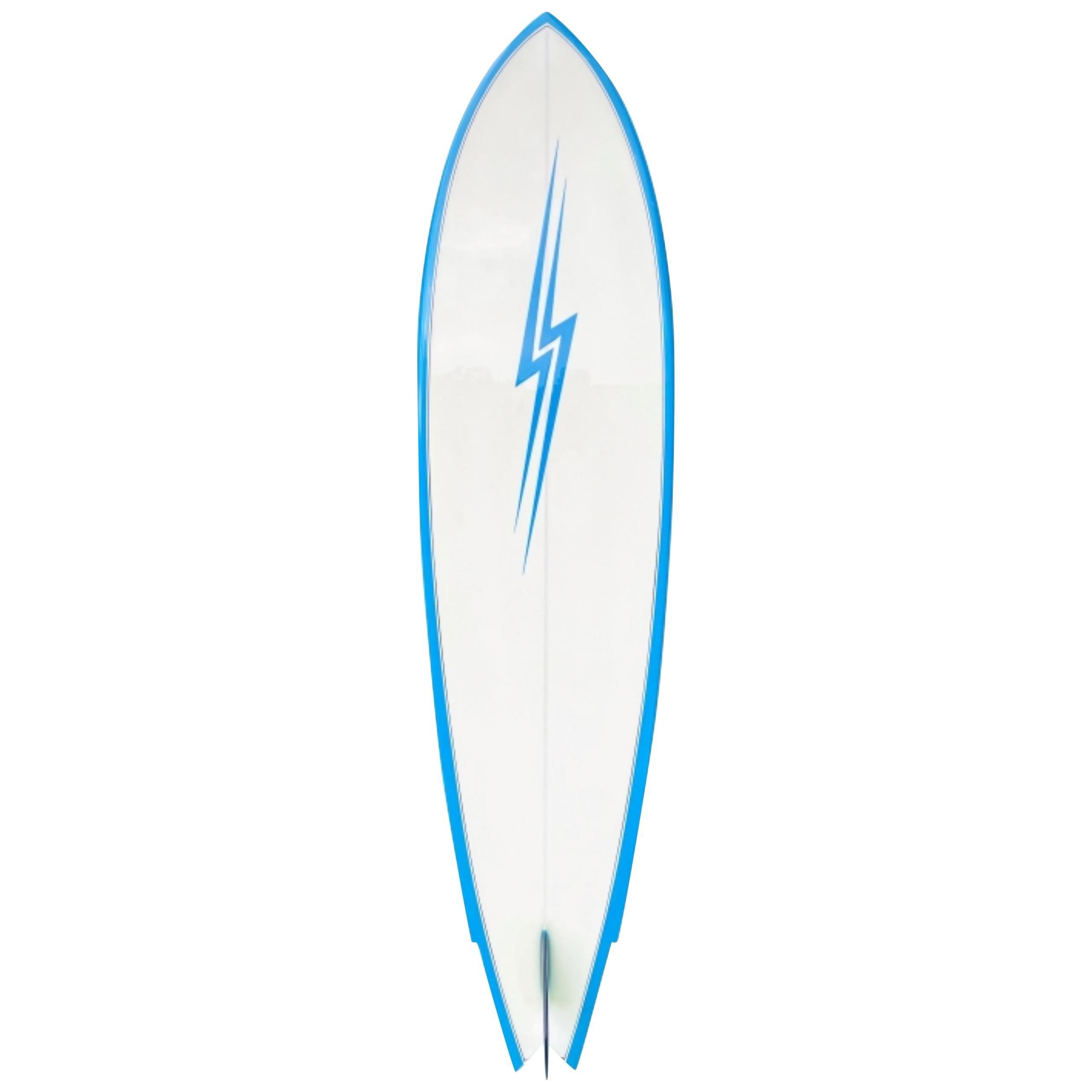 Vintage 1970s Lightning Bolt Surfboard by Tom Parrish
