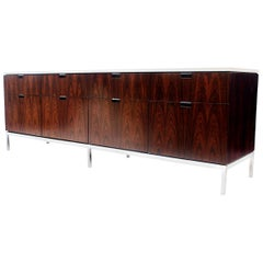 Vintage 1970s Mid-Century Modern Rosewood Credenza Console by Florence Knoll
