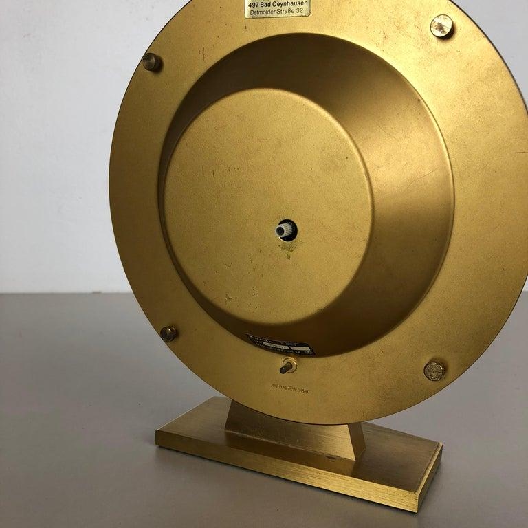 20th Century Vintage 1970s Modernist Ele-Quarz Table World Clock Clock by Kundo, Germany For Sale