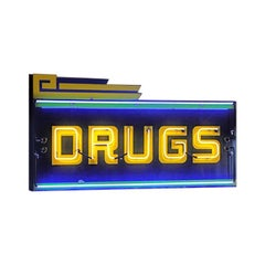 Vintage 1970s Neon 'Drugs' Sign
