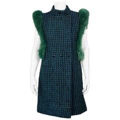 Vintage 1970s PIERRE CARDIN Mod Knitted Fur Vest Coat