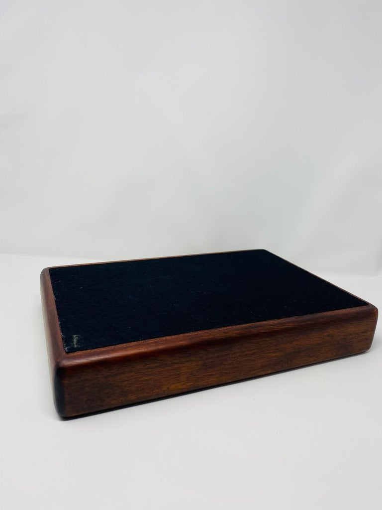 Late 20th Century Vintage Danish Modern 1970s Rosewood Paper and Letter Tray For Sale
