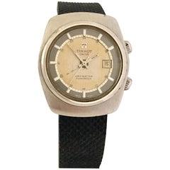 Vintage 1970s Stainless Steel Tissot Swiss Navigator Sonorous Alarm Watch