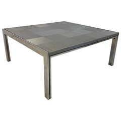 Vintage 1970s Steel Coffee Table by Ross Littell for ICF De Padova