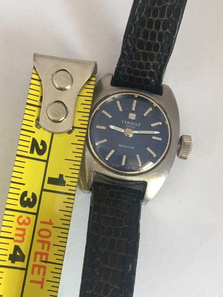 Vintage 1970s Tissot Seastar Ladies Mechanical Watch For Sale 7