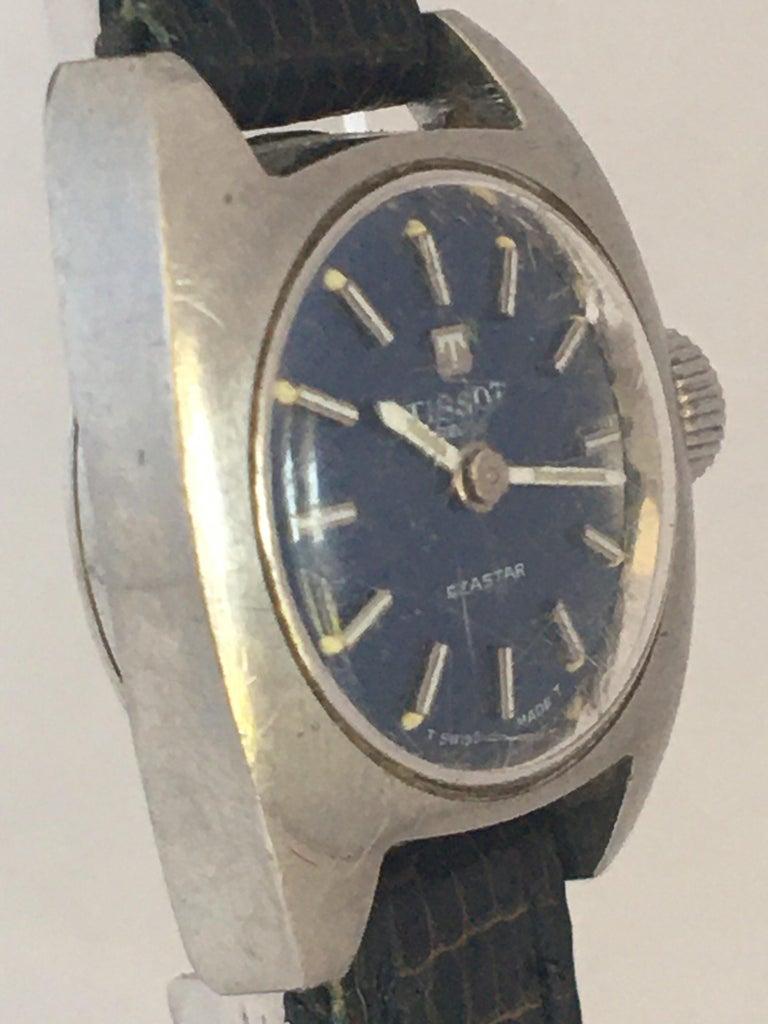 Vintage 1970s Tissot Seastar Ladies Mechanical Watch For Sale 10