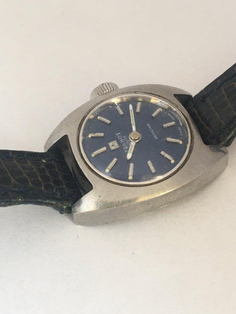 Vintage 1970s Tissot Seastar Ladies Mechanical Watch For Sale 1