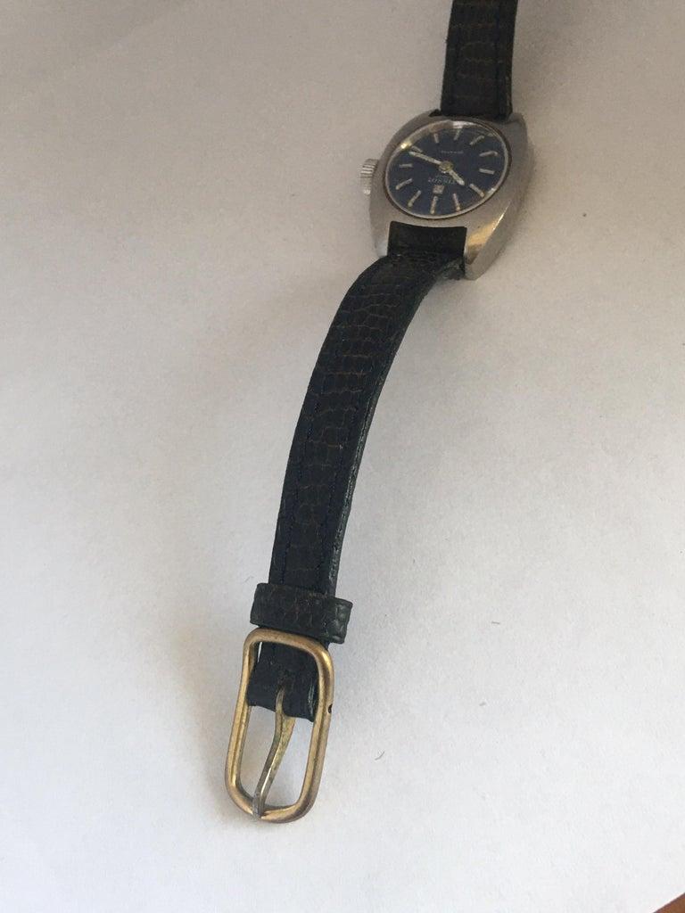 Vintage 1970s Tissot Seastar Ladies Mechanical Watch For Sale 2