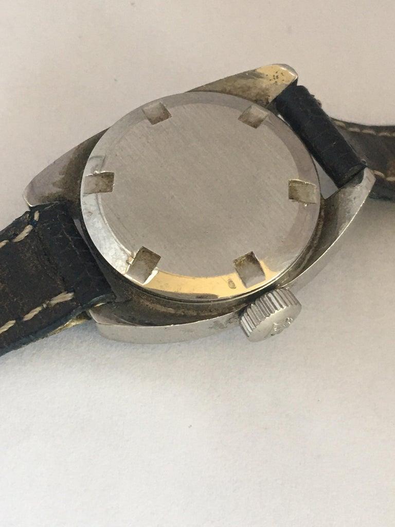 Vintage 1970s Tissot Seastar Ladies Mechanical Watch For Sale 3
