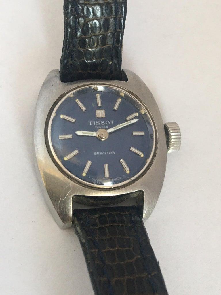 Vintage 1970s Tissot Seastar Ladies Mechanical Watch For Sale 5