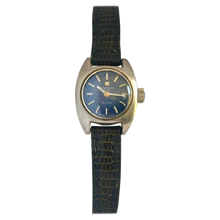 Vintage 1970s Tissot Seastar Ladies Mechanical Watch For Sale