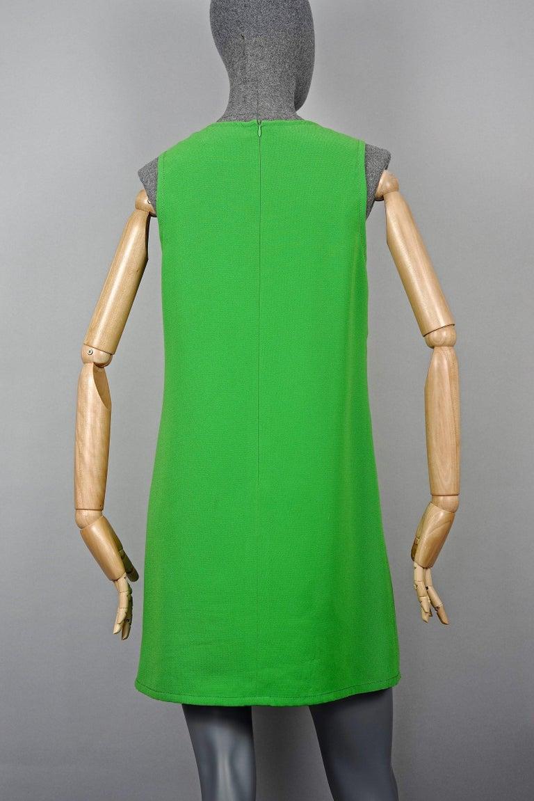 Vintage 1970s YVES SAINT LAURENT Heart Pop Art Dress For Sale 3