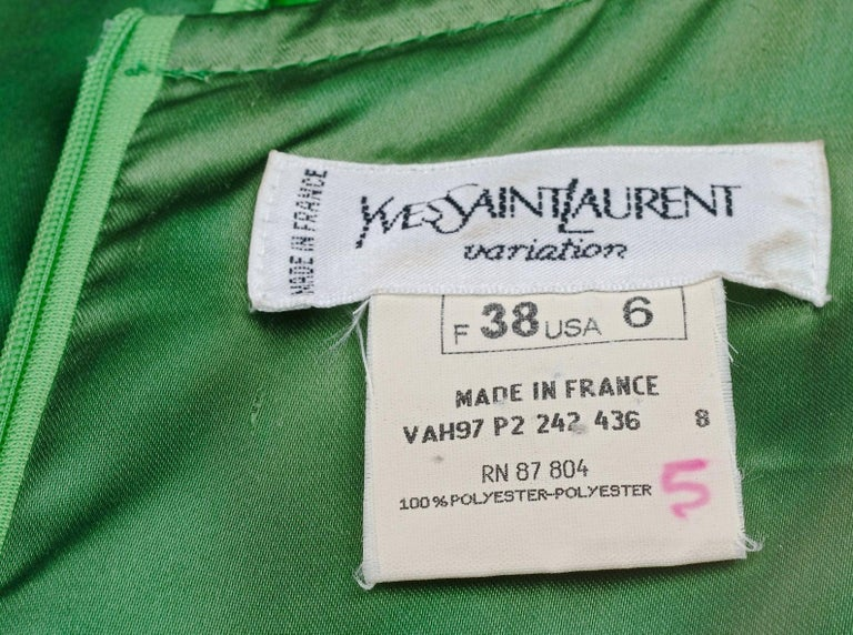 Vintage 1970s YVES SAINT LAURENT Heart Pop Art Dress For Sale 5