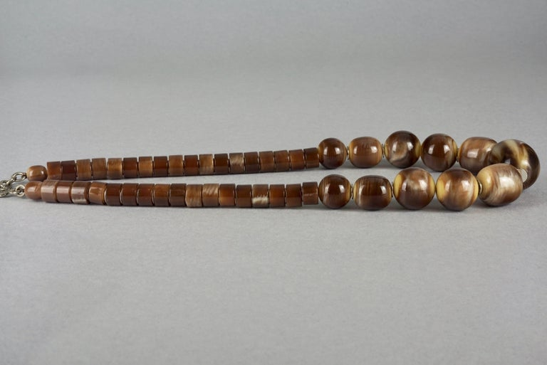 Vintage 1970s YVES SAINT LAURENT Ysl Tigers Eye Necklace by Roger Scemama For Sale 1