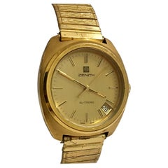 Vintage 1970s Zenith XL-Tronic Gold-Plated/ Stainless Steel Men's Watch