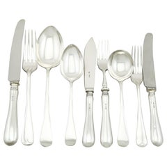 Vintage 1973 Sterling Silver Canteen of Cutlery for Six Persons