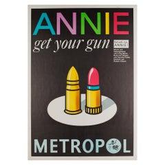 Vintage 1978 East German Annie Get Your Gun Theatre Poster