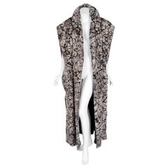 Vintage 1978 Fendi Couture by Karl Lagerfeld Chinchilla Fur Maxi Jacket Vest