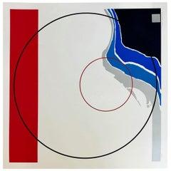 Vintage 1979 Thomas W. Benton Serigraph Geometric Abstract Art Prints