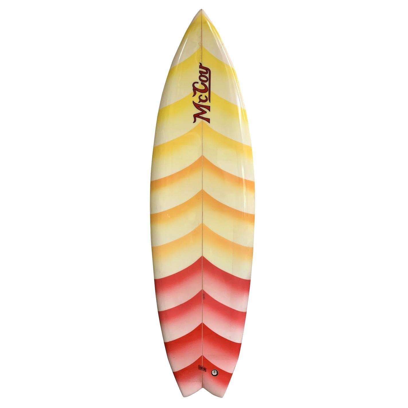 Vintage 1980 McCoy Twin Fin Surfboard by Greg Pautsch