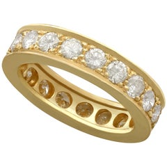 2.22 Carat Diamond and Yellow Gold Full Eternity Ring
