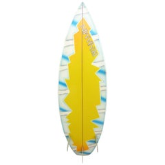 Vintage 1980s Benjamin Surfboard by Terry Martin