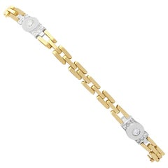 Vintage 1980s Diamond and Yellow Gold Bracelet