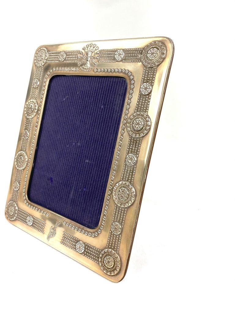 Vintage 1980's Erté Sterling Silver and Wood Frames, Set of 2 For Sale 1