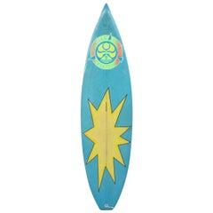 Vintage 1980s Hawaiian Island Creations 'HIC' Surfboard by Gabe Garduque