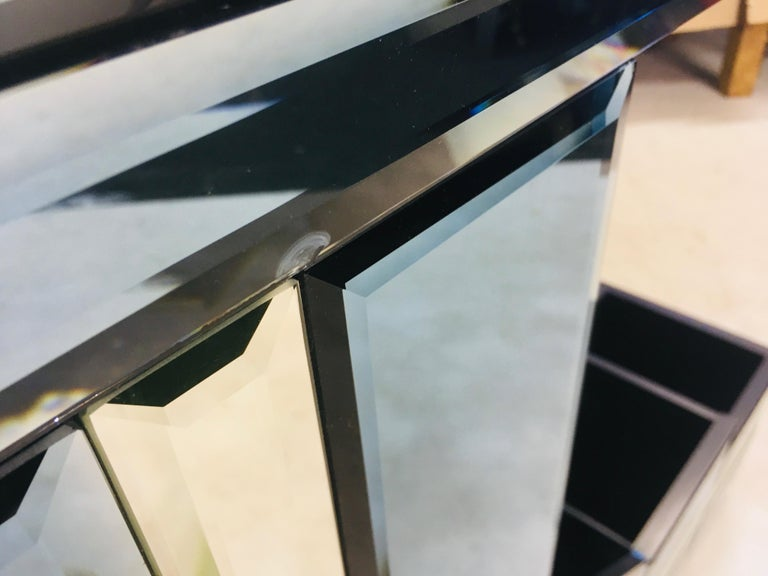 Vintage 1980s Italian Colored Glass Console Table 6