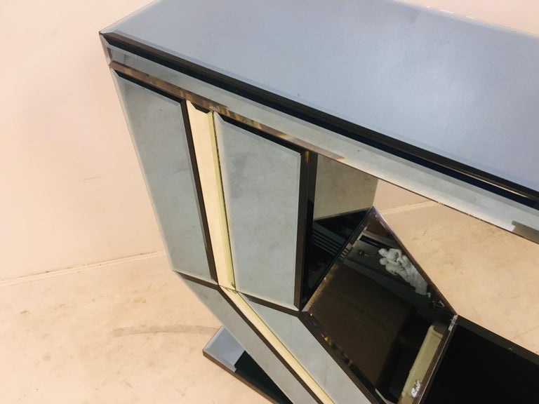 Vintage 1980s Italian Colored Glass Console Table 7