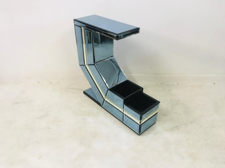 Vintage 1980s Italian Colored Glass Console Table 3