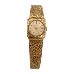 Vintage 1980s Rolled Gold and Stainless Steel Mechanical Helvetia Ladies Watch